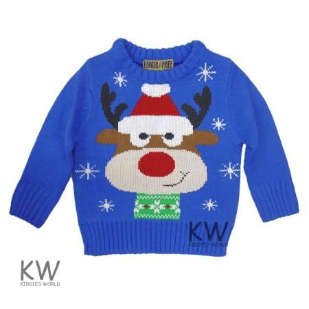 93b299002d57 Reinsdyr julegenser barn blå