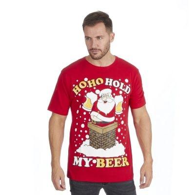 Julenissen med ølkrus Øl på julen Baby T skjorte   Spreadshirt